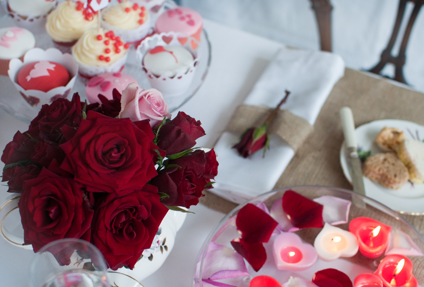 Valentine decorations by The Chipping Norton Tea Set