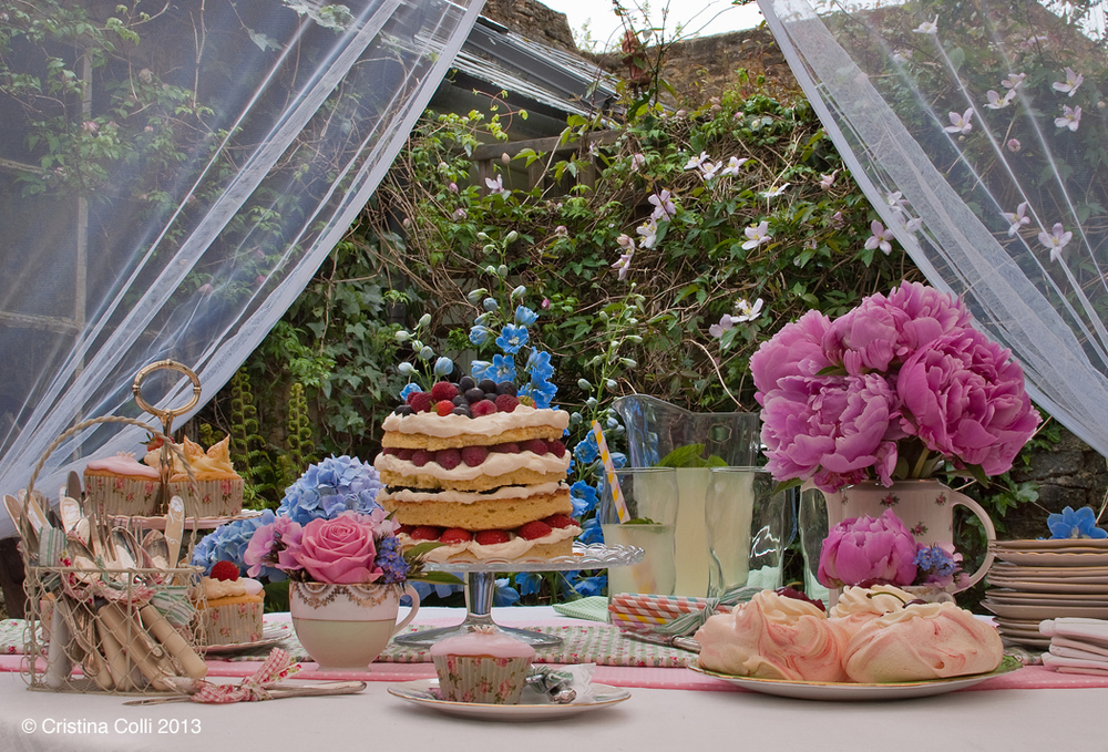 Outside vintage afternoon tea by The Chipping Norton Tea Set