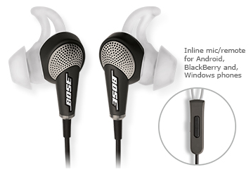 Bose QC20 for Blackberry, Android or Windows Phone