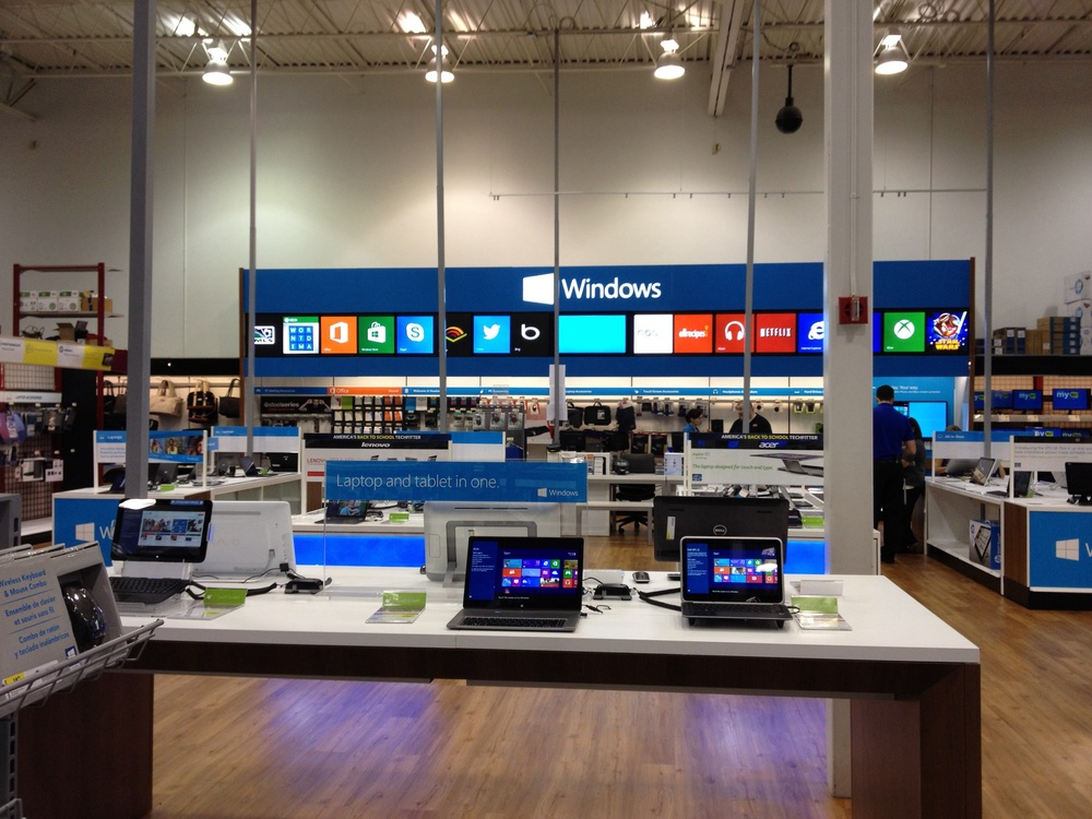 Image of a Microsoft Store in the Best Buy in Wichita Kansas, Image (c) Edward Kiledjian 2013. All rights reserved.
