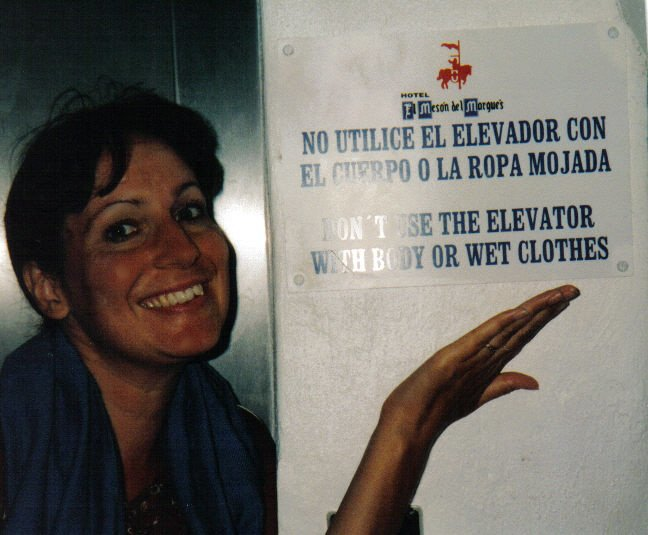 Flickr  Crowdive . Sign in mexico. Not sure how I'm suppose to use this elevator.