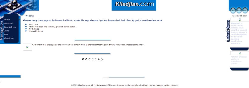 Kiledjian.com Feb 13 2003