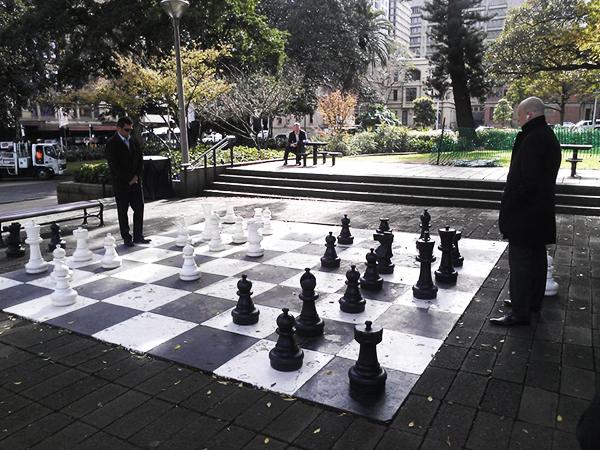 Standing chess (Sydney)