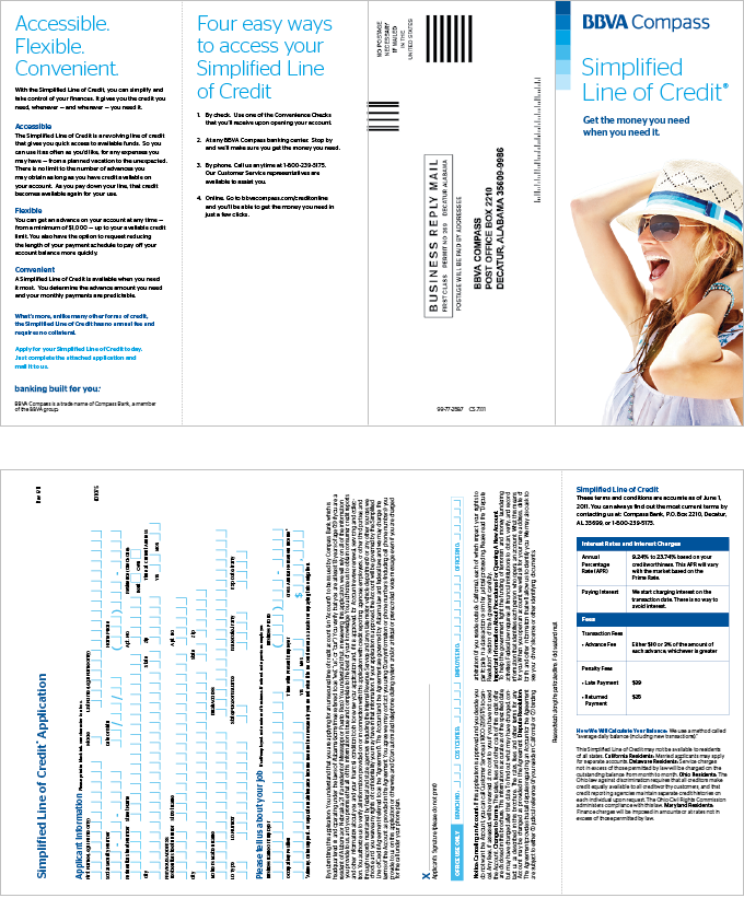In-branch brochure with application
