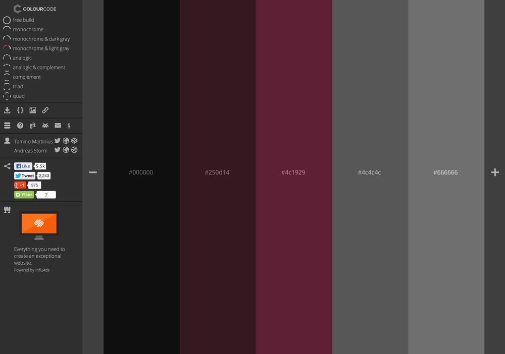 Colourco.de created by Tamino Martinius & Andreas Storm
