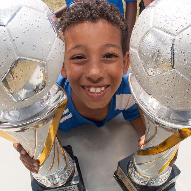 Nothing like a couple big trophies to cheer you up. #football #soccer #footie #footy #bigsmiles