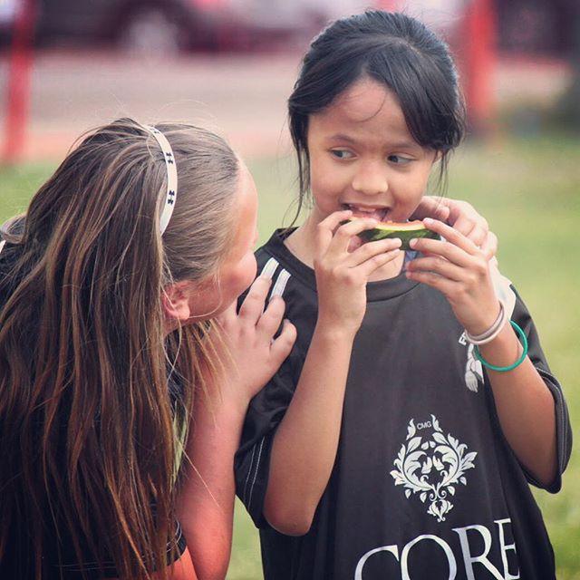 The friends we make on the field & the sidelines last the longest. #soccer #football #friends #trust #kids #yeg