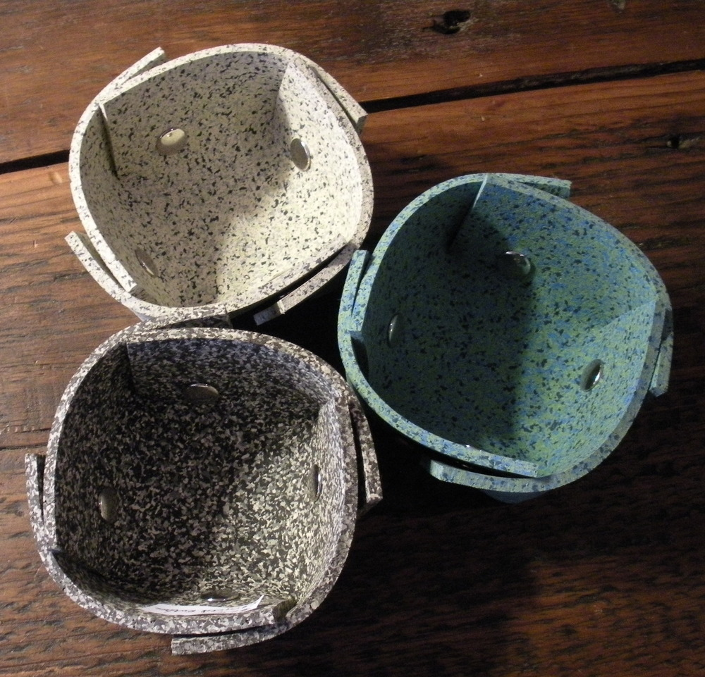Assorted Recycled Rubber Bowls