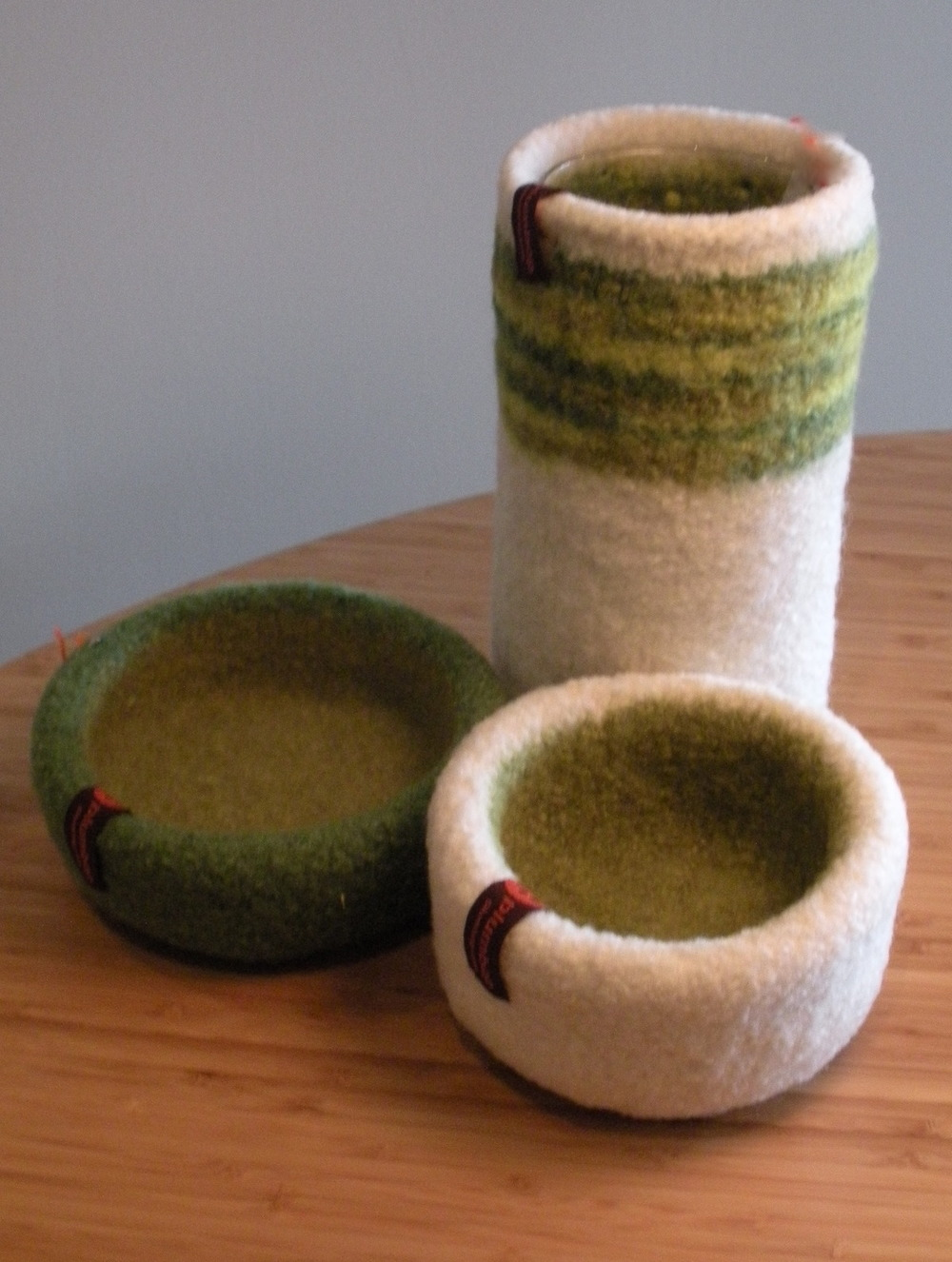 Felt Vase Cosies and Bowls