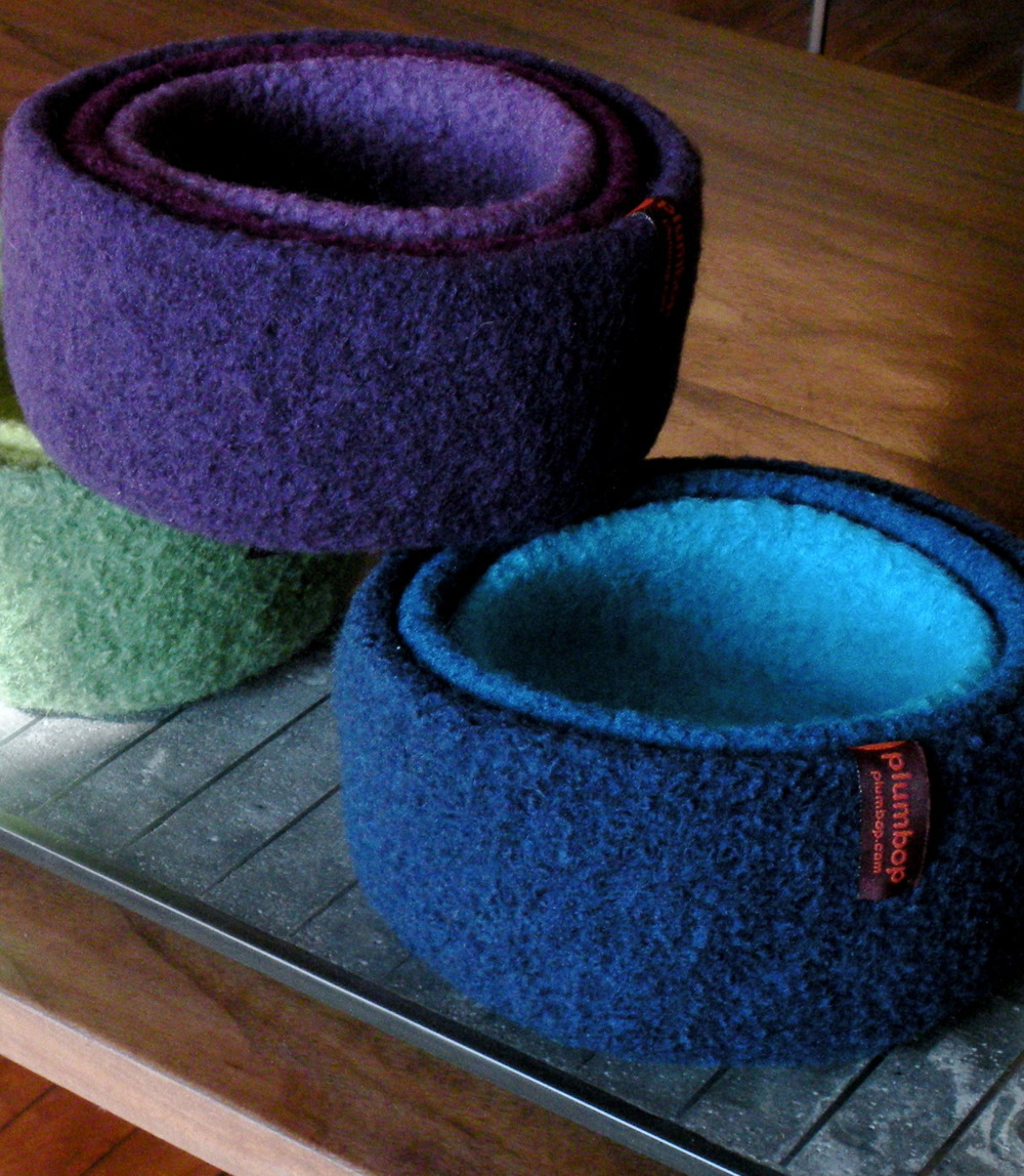 Hand Felted Wool Bowls