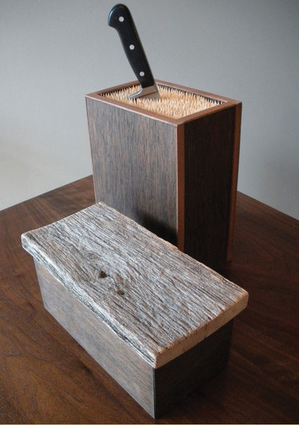 """The Item: Put that Knife Away"". We offer not only furniture but           hand-made accessories by regional makers.  Chronogram."