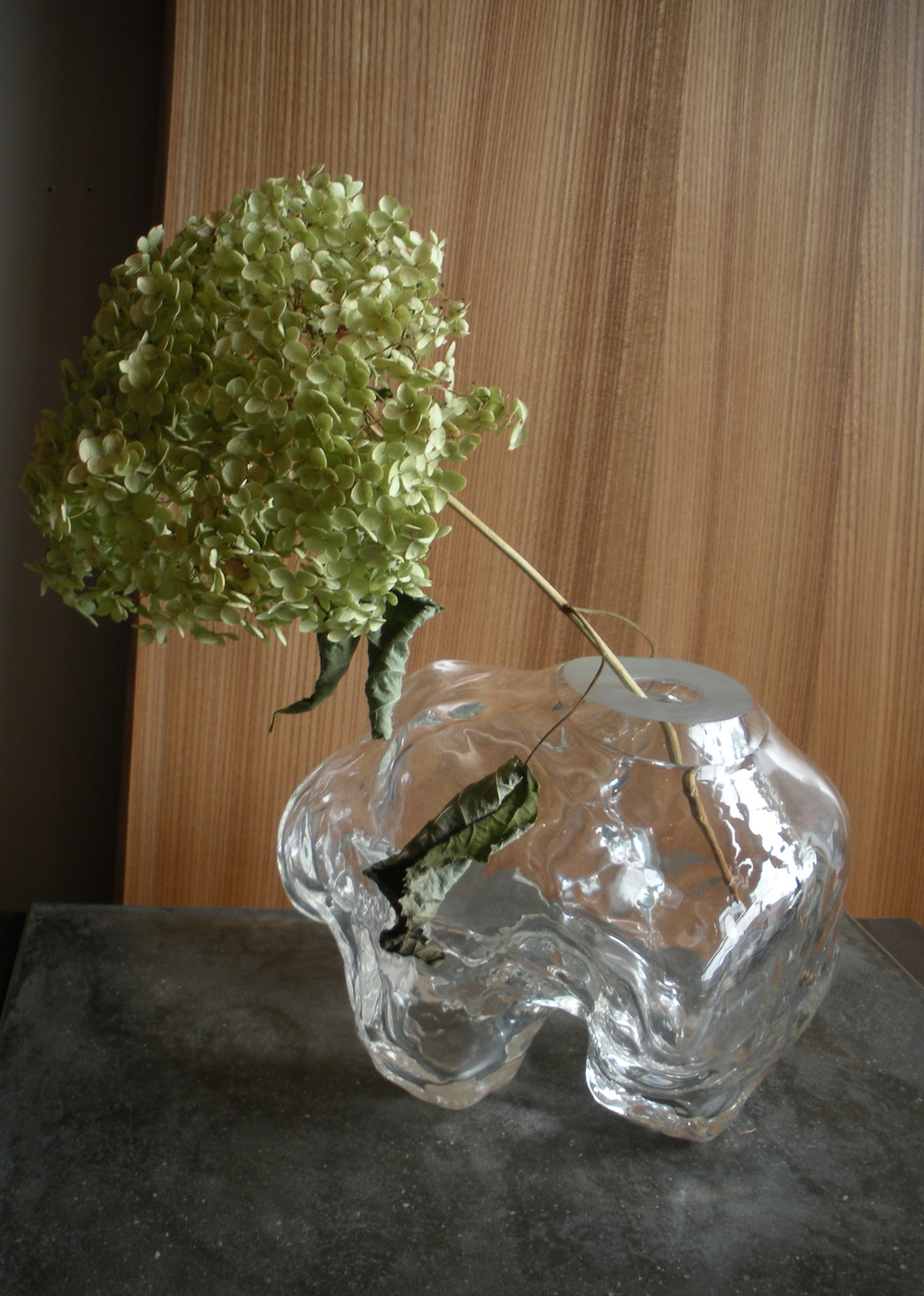 Hand-Blown Glass Cloud Vase
