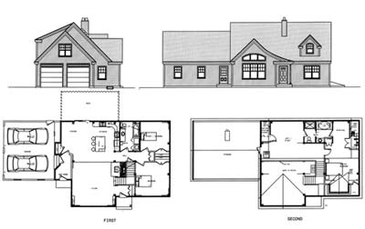 Cottage Cape 30 x 40 Three Bedroom