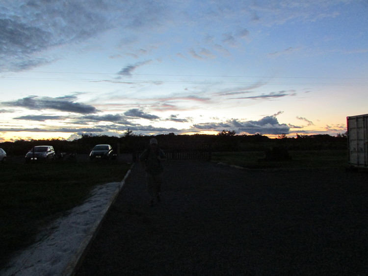 Sunset at the T3 research site in Manacapuru, Amazonas