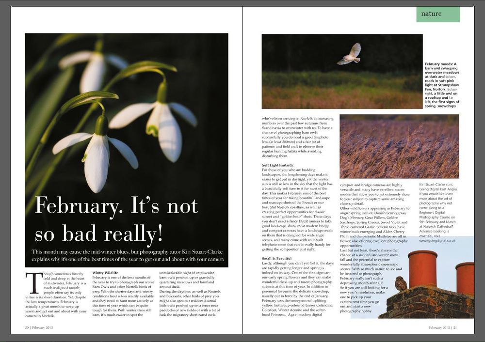 Norfolk Suffolk Life Magazine - Feb 2013 - Page 20-21