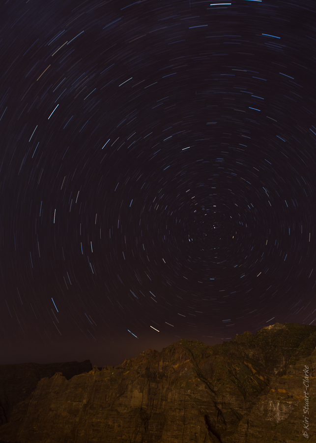Los Gigantes star trail