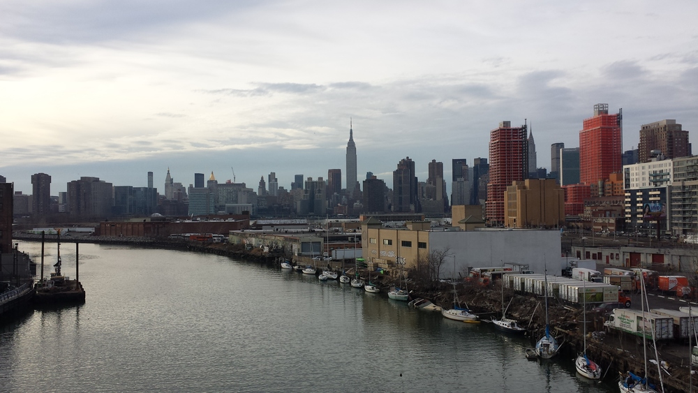 The view from Pulaski Bridge.