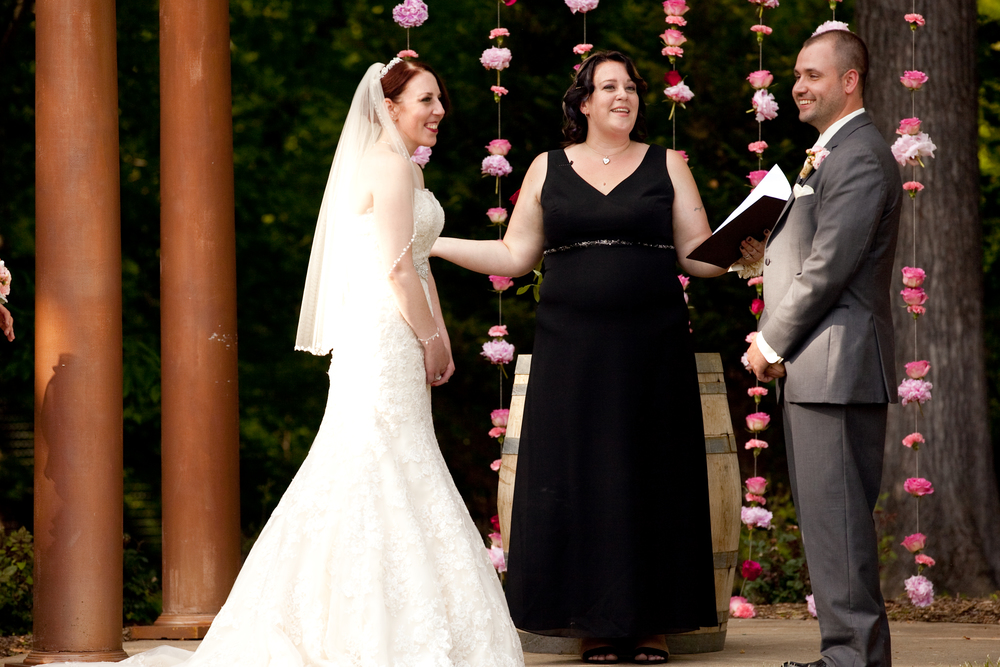 Our amazing officiant, Mo