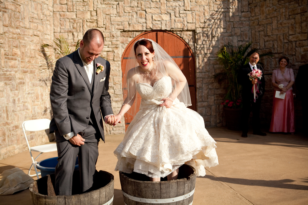"""Grape stomping, the original way to make wine (here I'm pretty sure i'm thinking…""""why did I agree to this?!"""")"""