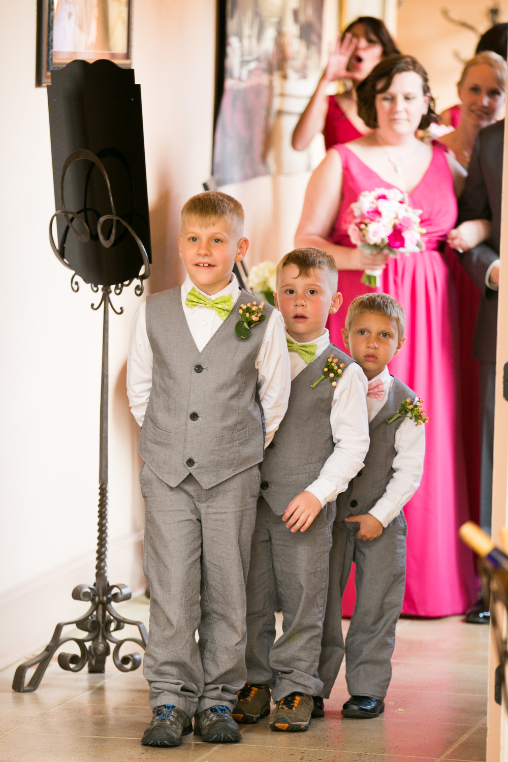 3/4 of my ring security team ready for their big entrance into the reception