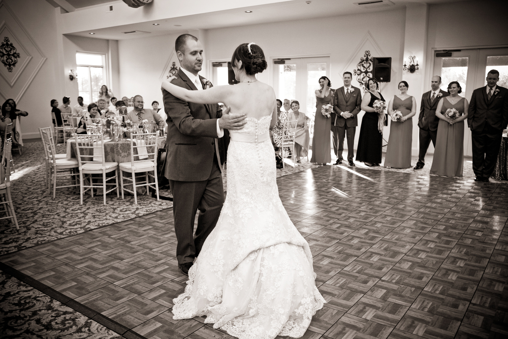 Our first dance! (Not as good as in practice, my dress was too long, but still fun!)