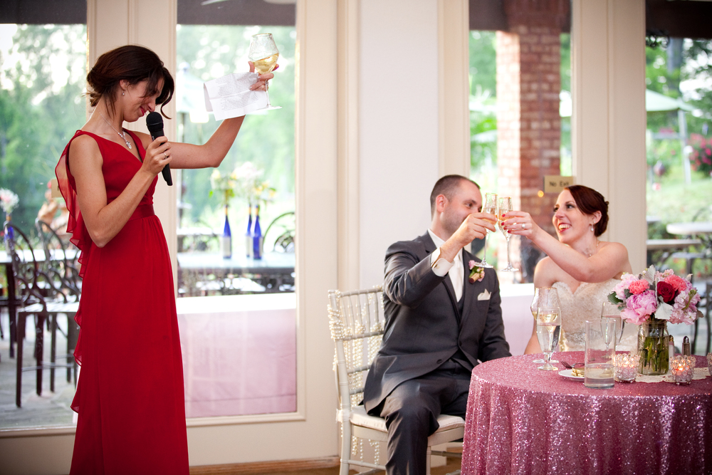 Matron of Honor toast- my sister in law, who has quickly become the little sister I never had, Laura
