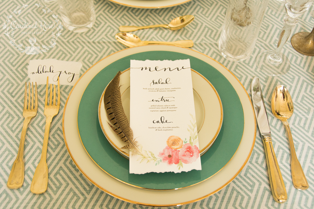 feather tablescape