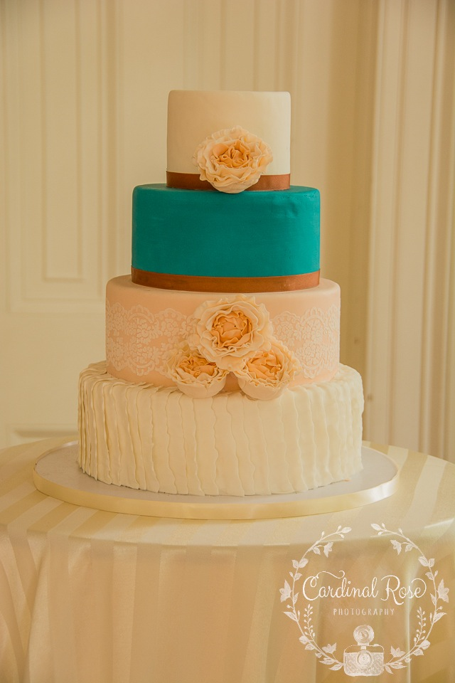 multi-texture wedding cake
