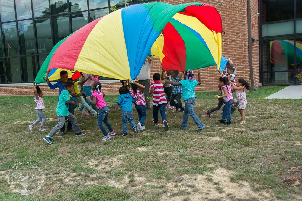 The kids loved the parachute!