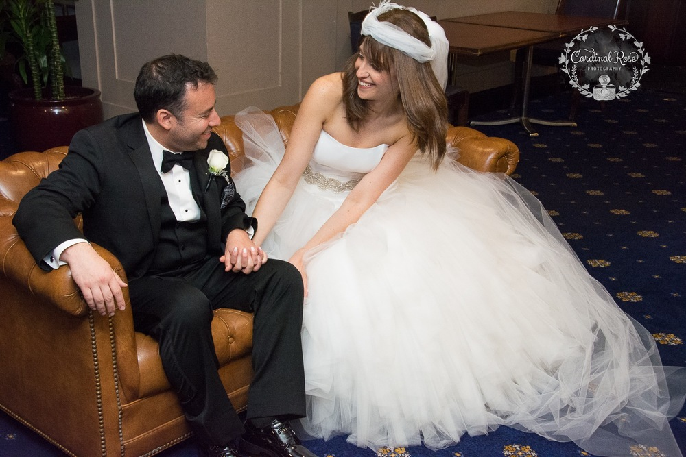 Sharing a fun moment after the ceremony!