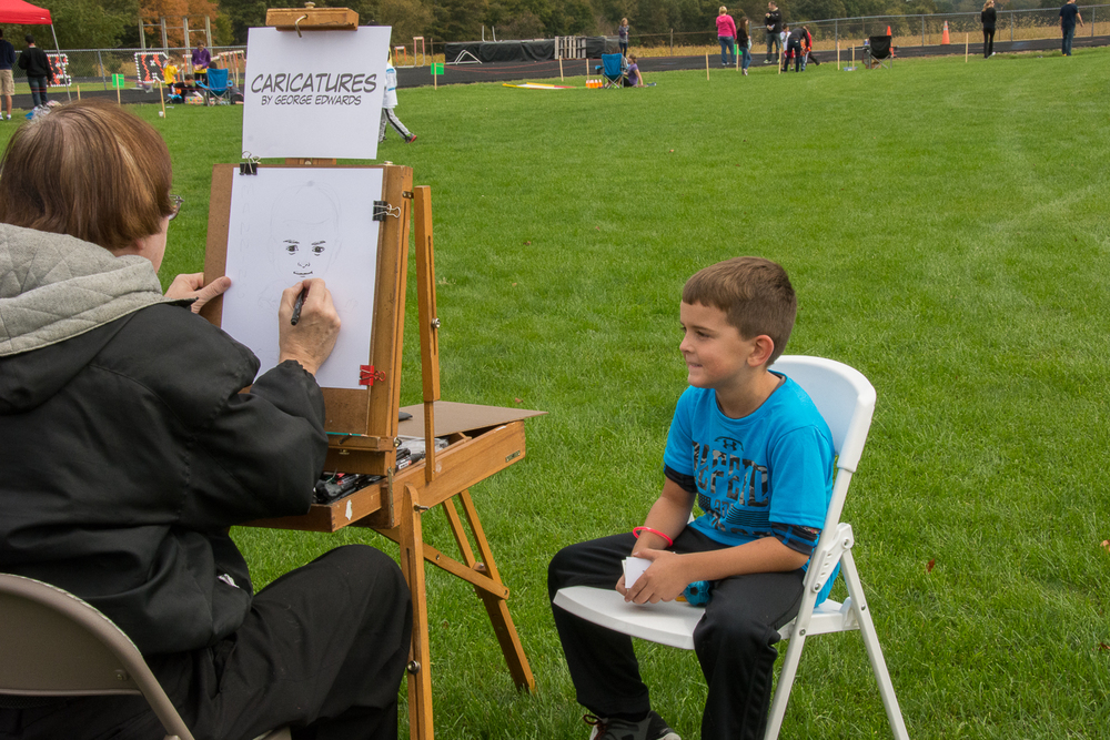 Caricatures were a hit!