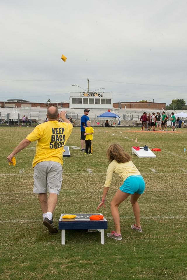 There was even a cornhole tournament!