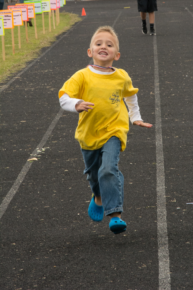 I think he just likes to run!!! :)