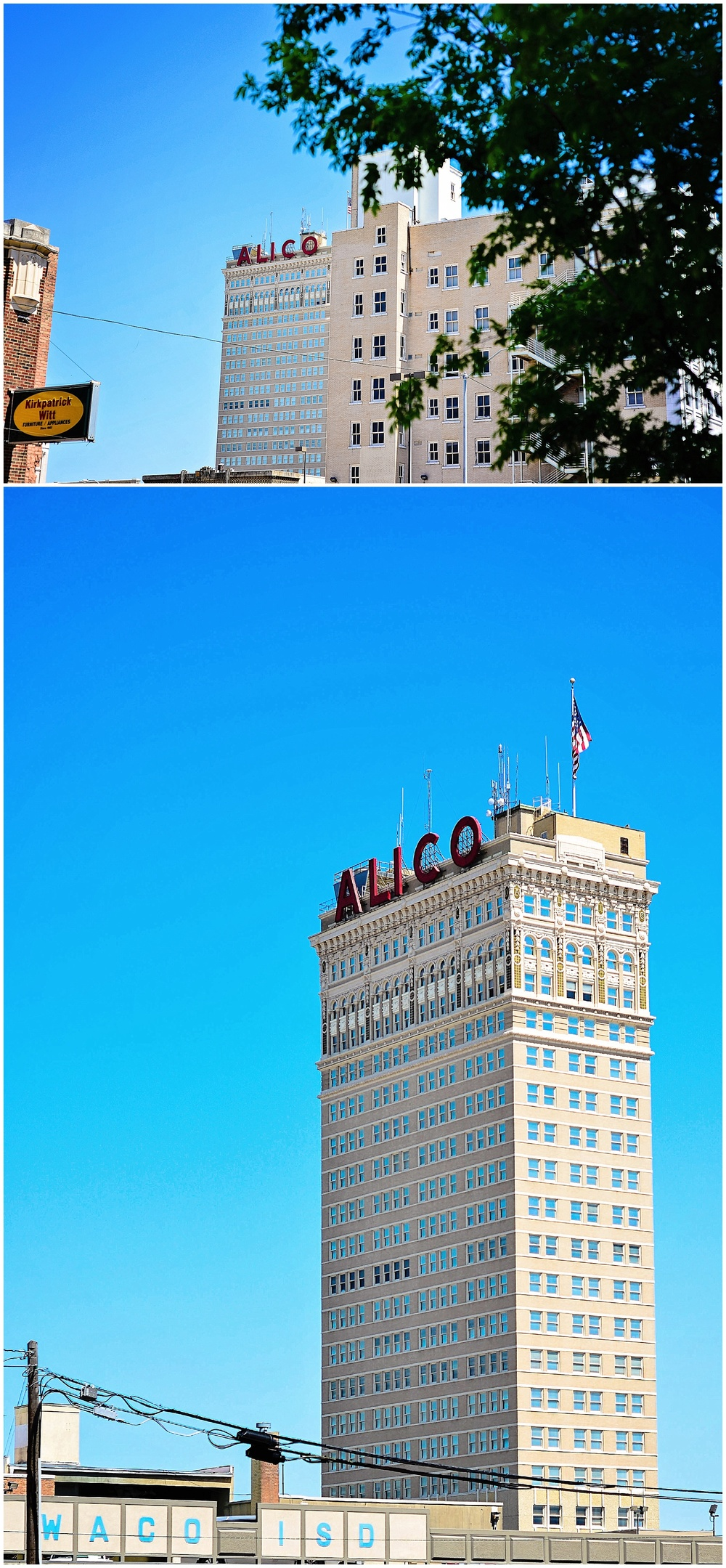 Downtown Waco, The Alico building is one of the telltale signs you are in Waco