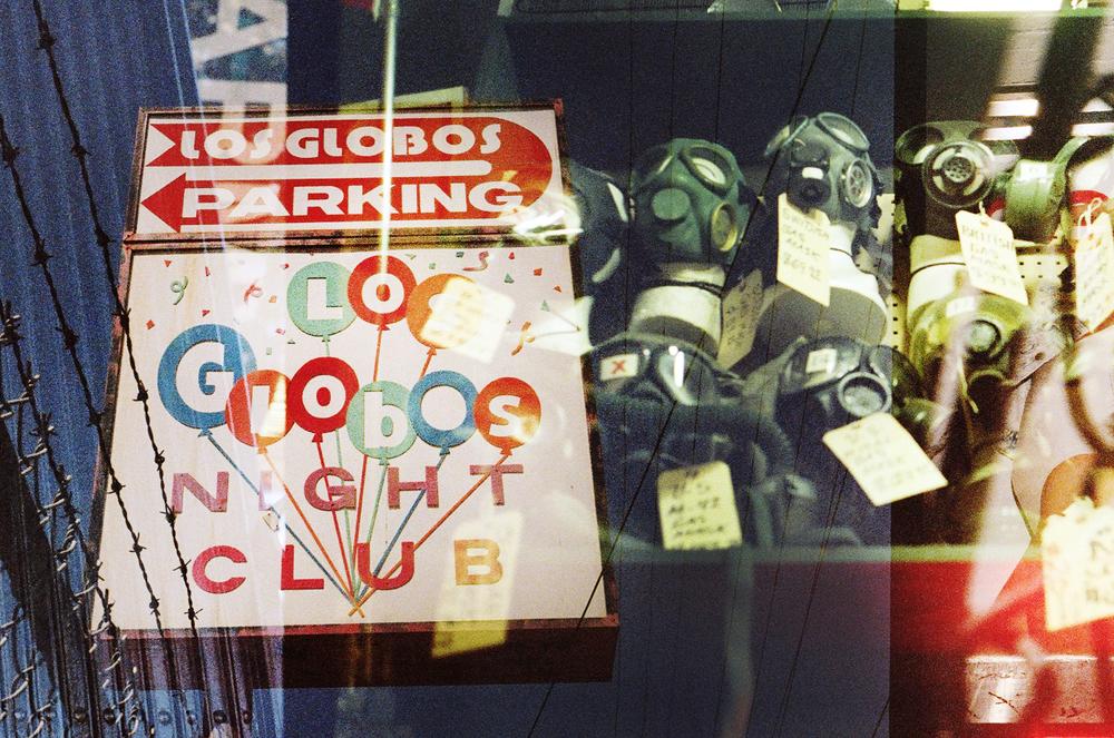 Los Globos gas masks    ©amandabjornphotography