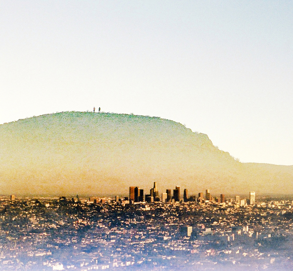 You and me and this big, bad city.   35mm Double Exposure amandabjornphotography