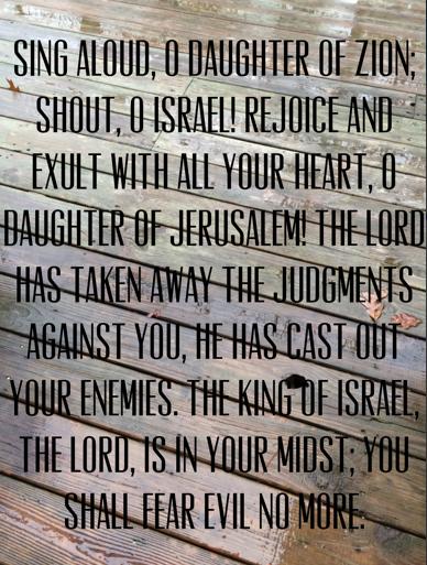 Zephaniah 3: 14-15