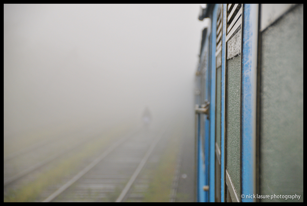 Man in the Mist  - part of our rail journey was in the rain & clouds which inhibited some of our views near Nuwara Eliya but as bad weather can do, it made for some other great photo opportunities.