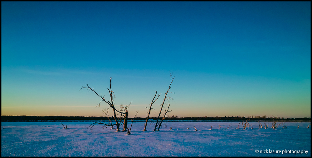 A cold sunset in Devils Lake, ND | Sigma DP1s