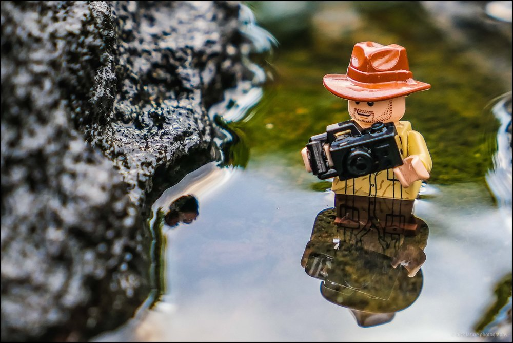 One of the bright spots of the LX10 was the macro capability. Here we see  Photo Lego Dude  committing for the shot in Hawaii.
