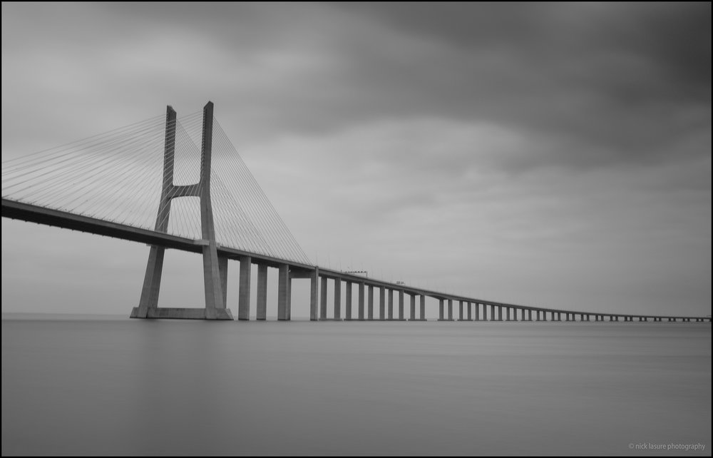 The Vasco da Gama Bridge - long exposure X100T