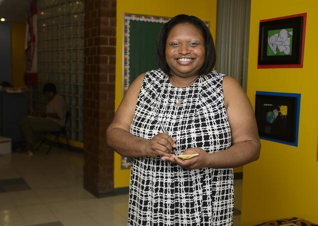 Principal Michelle K. Haynes                           (Photo: J. Bachner for New York Daily News)