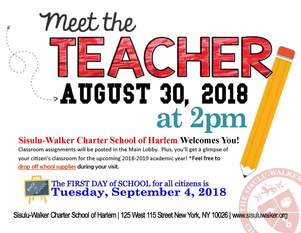 SWCSH Meet the Teacher 2018