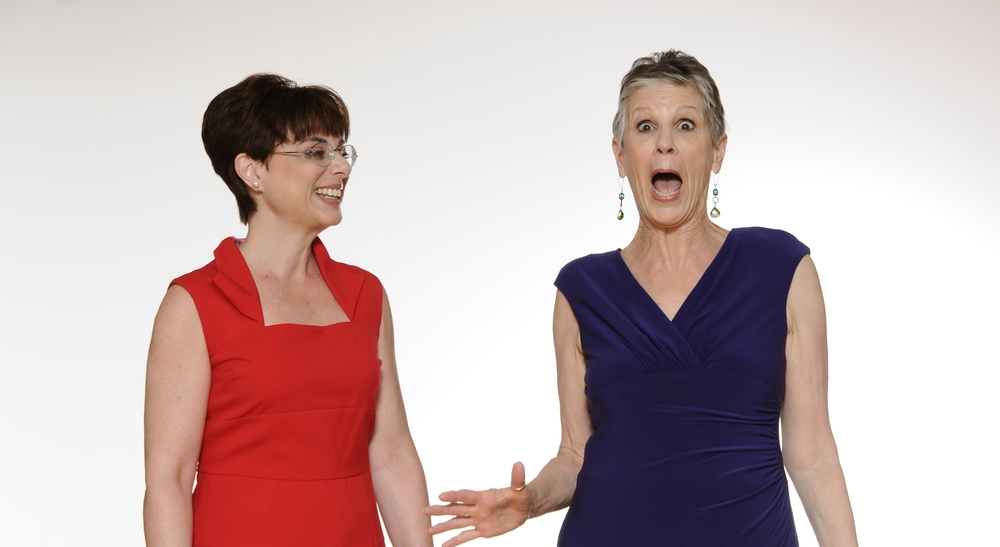 Anita with guest actress, Joanne Hagemeyer.