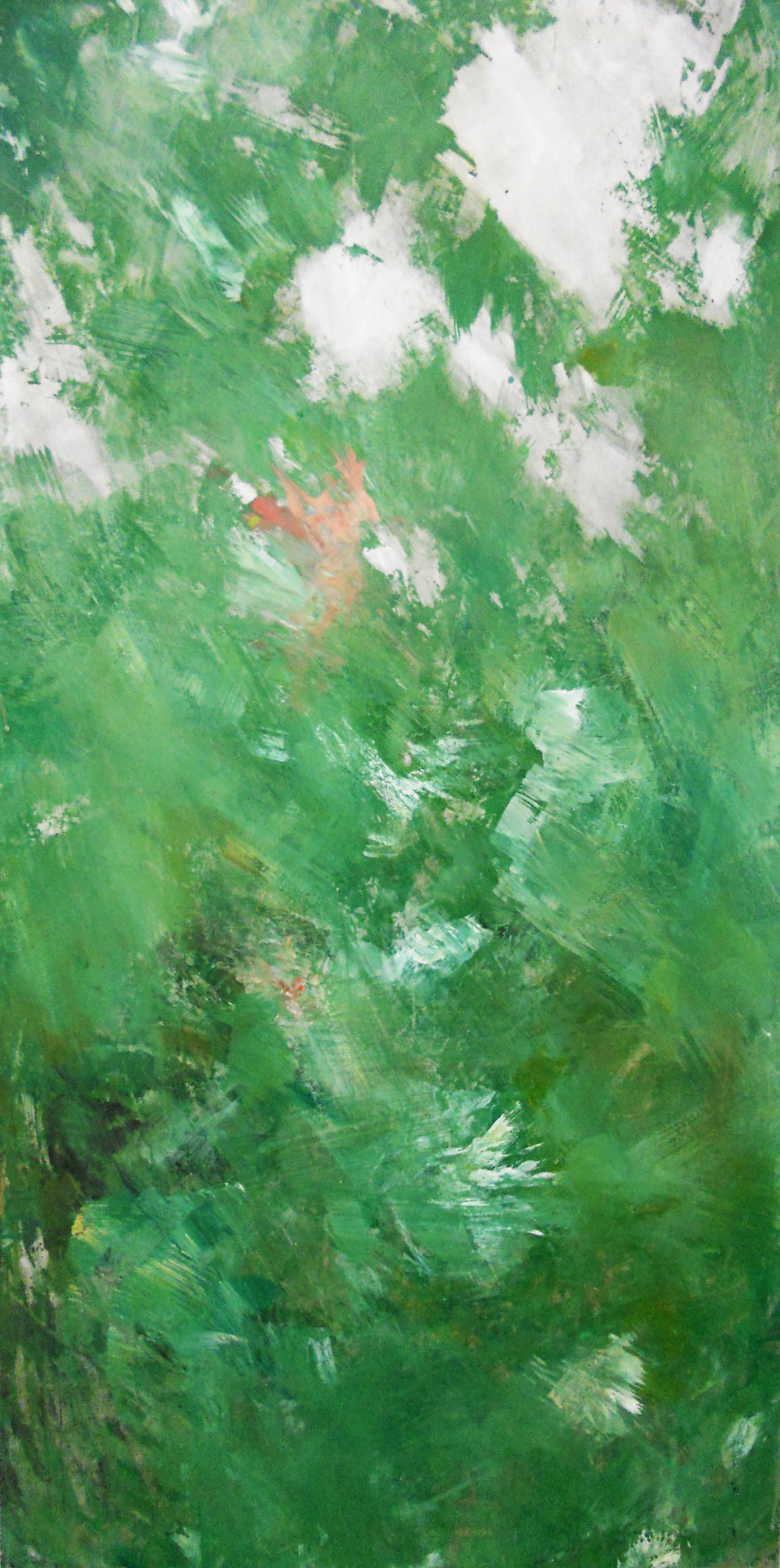 Le Printemps, 2014    Mixed media on aluminum // 24 x 48 inches