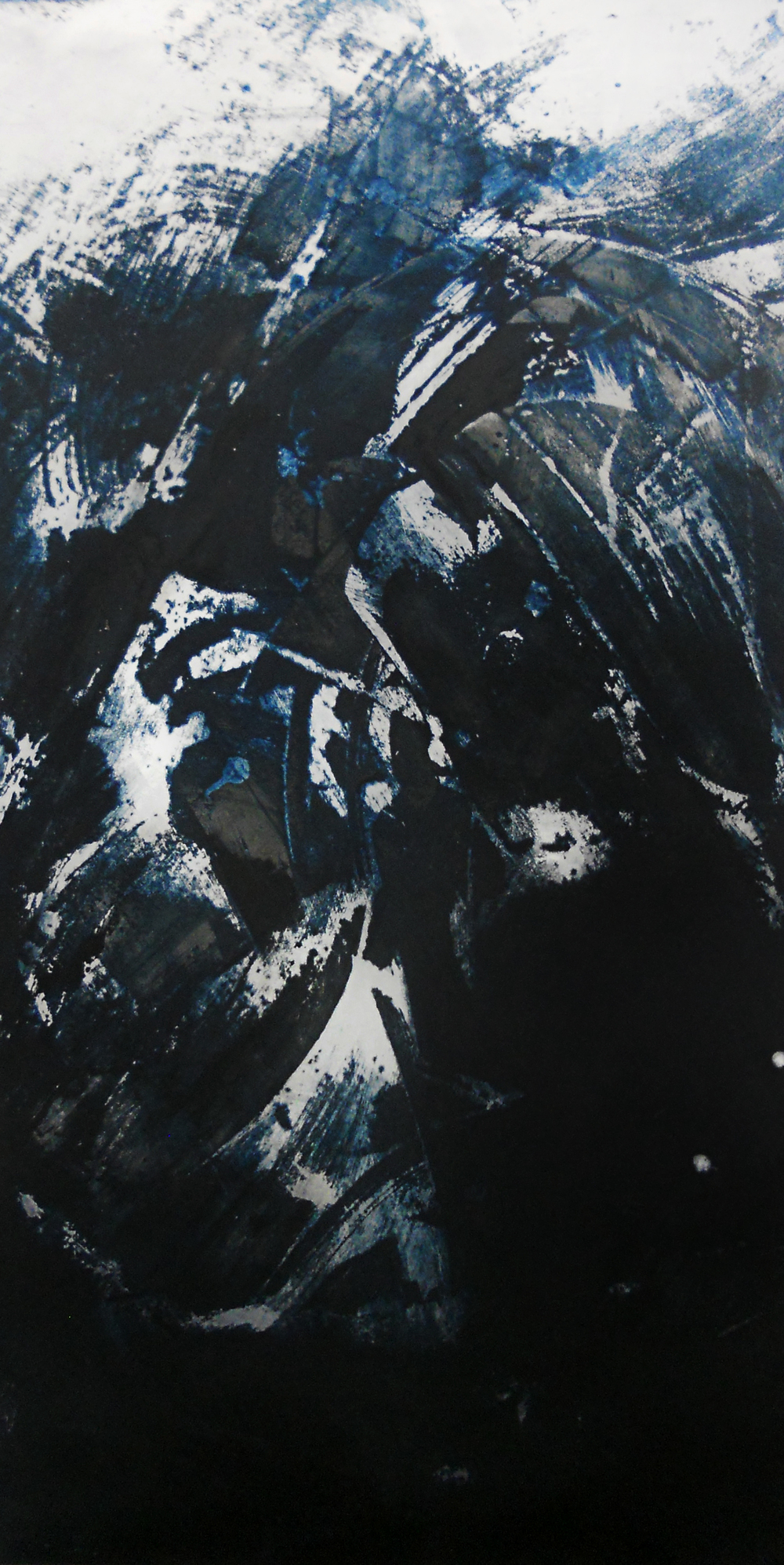 Surge, 2014    Mixed media on aluminum // 24 x 48 inches