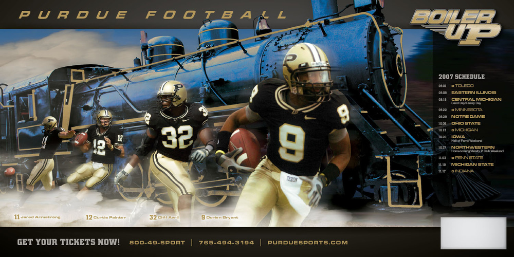 Purdue Football Poster