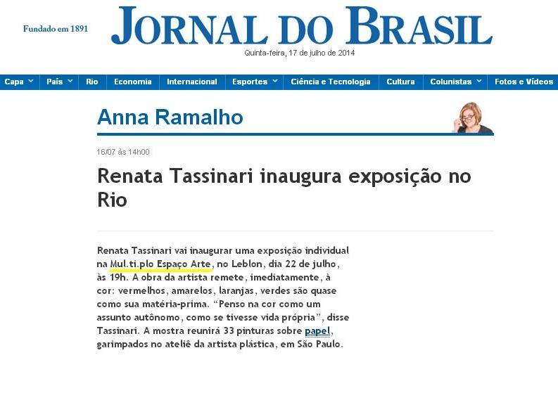 MUL.TI.PLO ESPAÇO ARTE NO JORNAL DO BRASIL ONLINE 16.07.2014.JPG