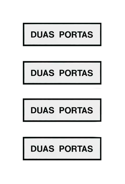 Duas Portas | Conjunto de quatro serigrafias emolduradas | 1979 | 15 x 50 cm cada | Edição de 10