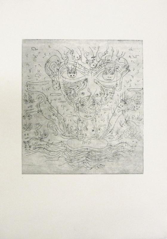 Olha | 2013 | Gravura em metal – água forte | 53 x 39 cm